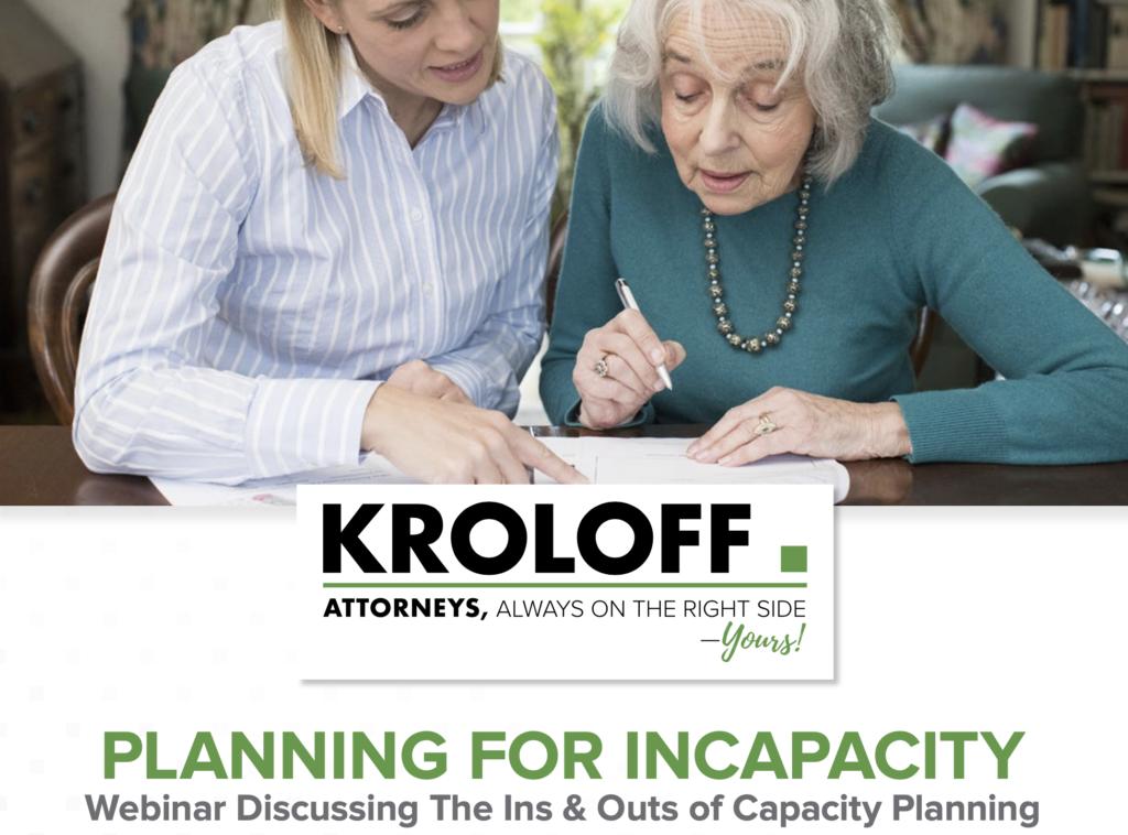 Free Webinar | Friday, June 4th | Planning for Incapacity